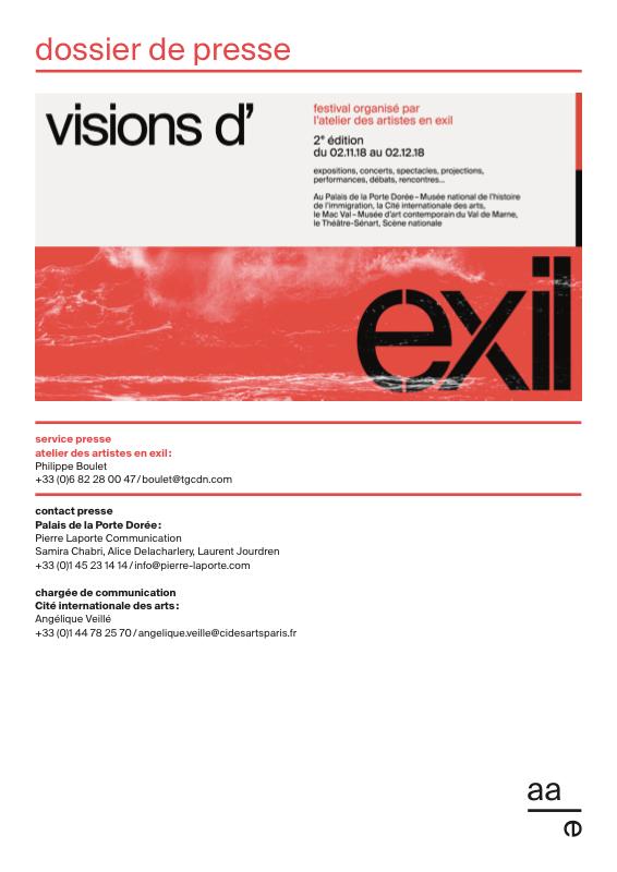 Dossier de presse - Festival Visions d'exil