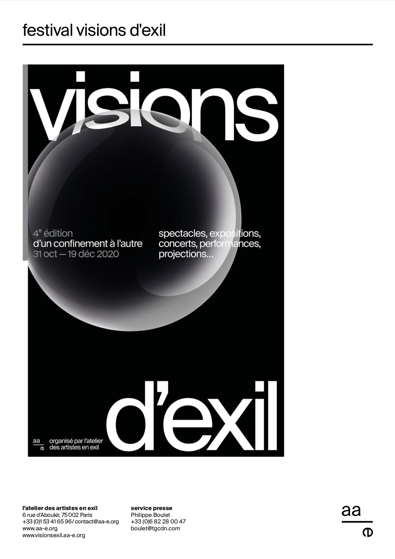 Dossier de presse festival visions d'exil 2020
